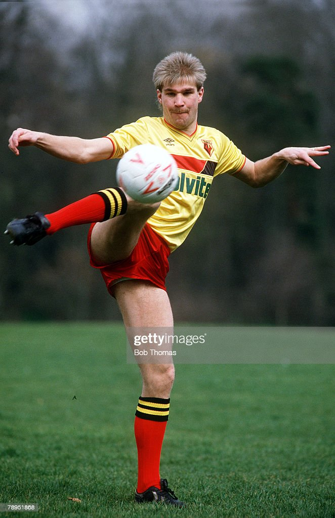 Sport. Football. pic: circa 1988. Richard Hill, Watford. : News Photo