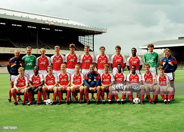 circa 19881989 season Arsenal FC Arsenal squad back row leftright Theo Foley Rhys Wilmot Paul Merson Tony Adams Niall Quinn Steve Bould Alan Smith...