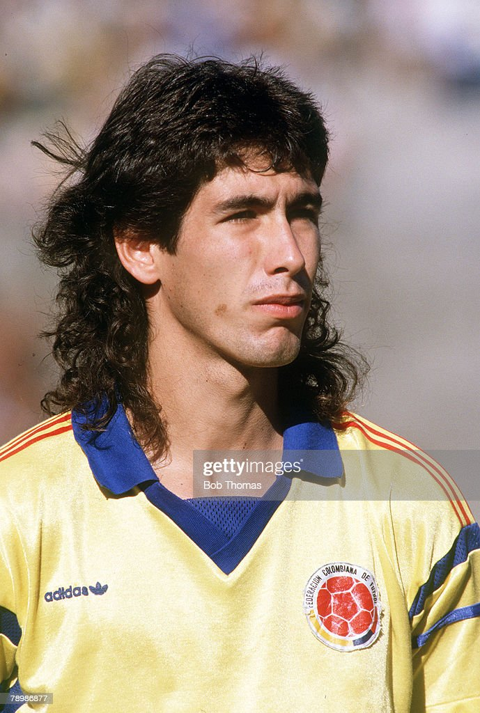 Sport. Football. pic: circa 1989. Andres Escobar, Colombia. : News Photo