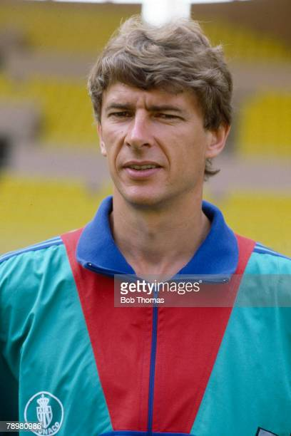 Circa 1990, Arsene Wenger, Monaco Coach, who later had great success managing Arsenal