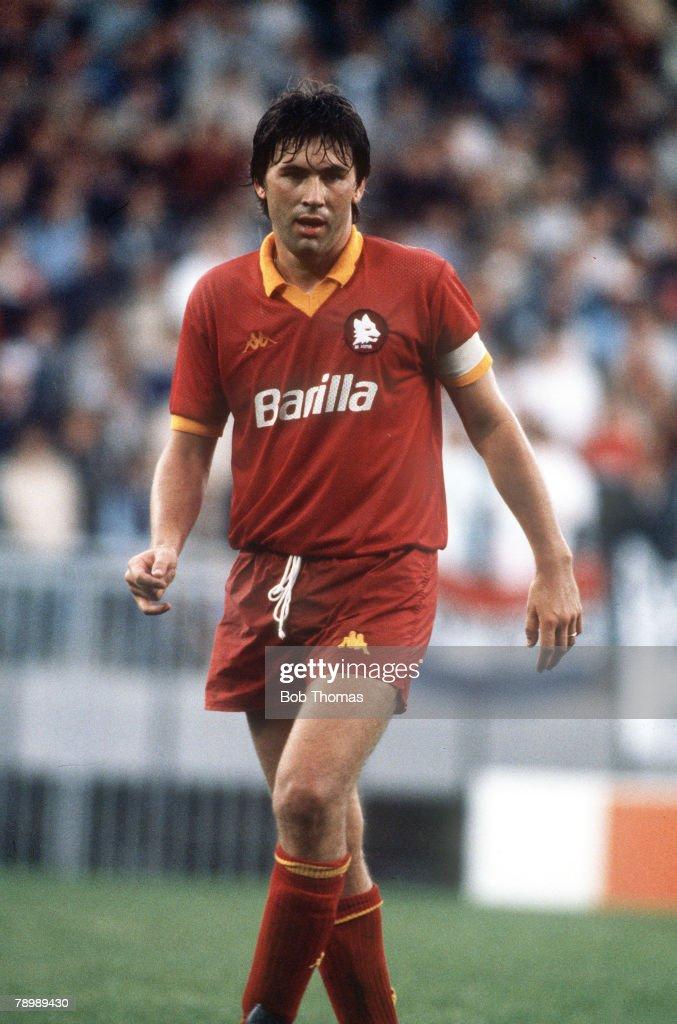 Sport. Football. pic: circa 1990. Carlo Ancelotti, AS. Roma. : News Photo