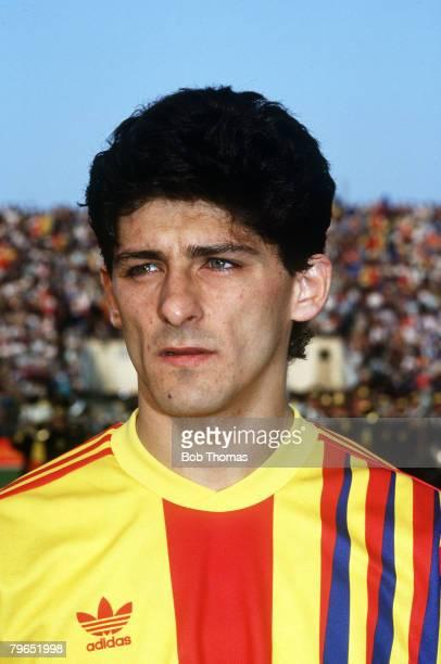 circa 1990 Miodrag Belodedici Romania a European Cup winner twice with Steaua Bucharest and Red Star Belgrade
