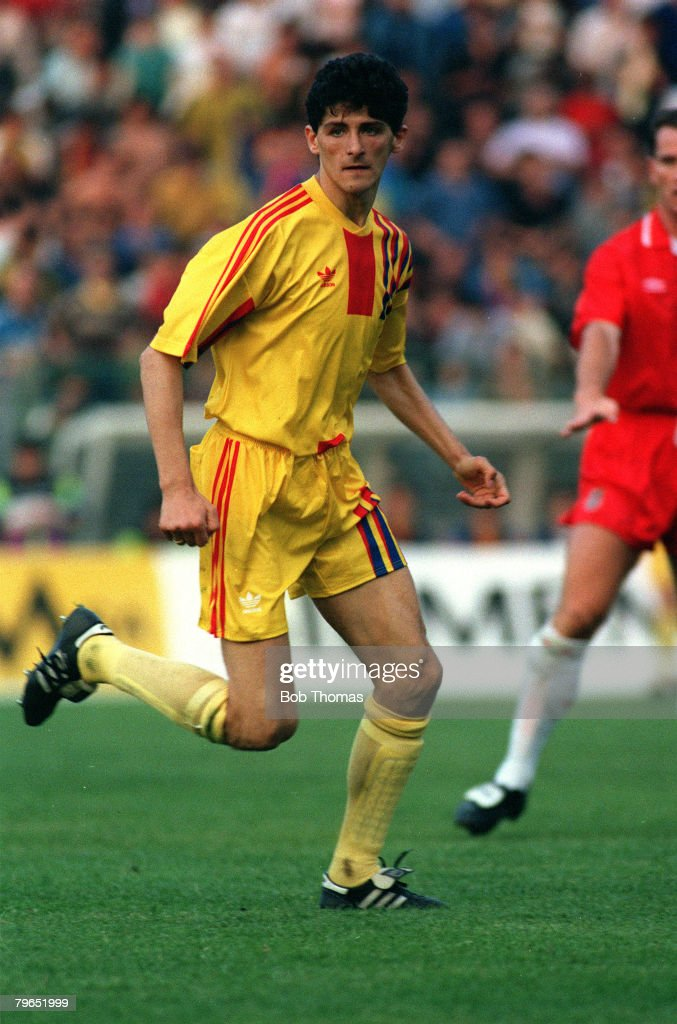 circa 1990, Miodrag Belodedici, Romania, a European Cup winner twice with Steaua Bucharest and Red Star Belgrade