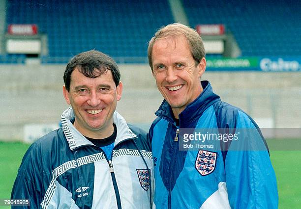 circa 1992 England Manager Graham Taylor with his assistant Phil Neal the England Coach Phil Neal won 16 major honours with Liverpool and a total of...