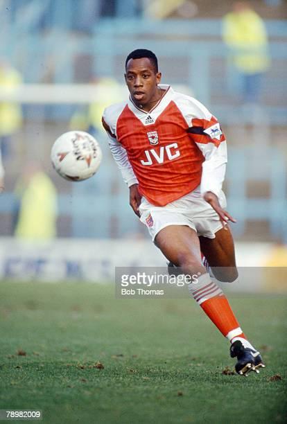 circa 1992 Ian Wright Arsenal striker 19911998 Ian Wright won 33 England international caps between 19911999