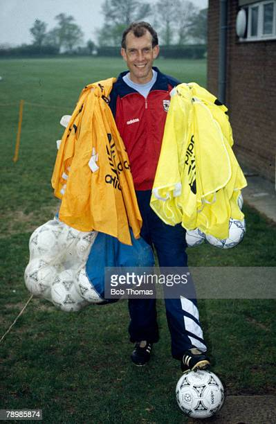 Circa 1993, Arsenal Assistant Manager Stewart Houston at the London Colney training ground
