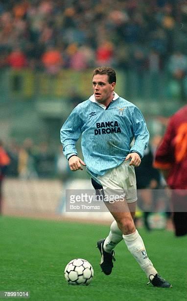 circa 1993 Paul Gascoigne Lazio Paul Gascoigne played for the England team 19891998 and won 57 full international caps