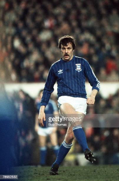 February 1982 Allan Hunter Ipswich Town central defender who won 53 Northern Ireland international caps between 19701980
