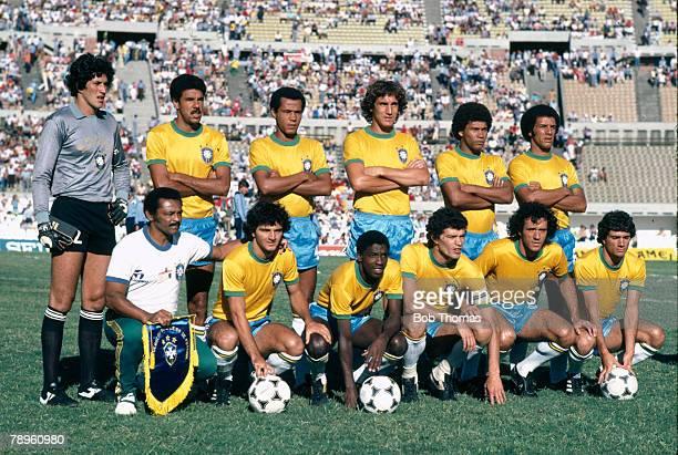 January 1981 Copa de Ora in Montevideo Brazil team group