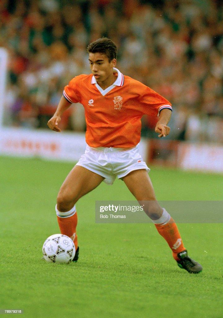 Sport. Football. pic: July 1993. European Under 18 Championship. England v Holland. Giovanni Van Bronckhorst, Holland : News Photo