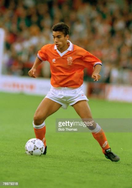 July 1993 European Under 18 Championship England v Holland Giovanni Van Bronckhorst Holland