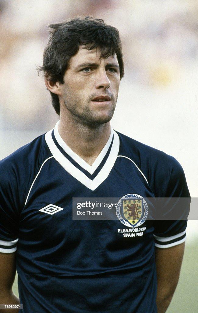 Sport. Football. pic: June 1982. 1982 World Cup Finals. Malaga. David Narey, Scotland , who won 35 Scotland international caps between 1977-1989. : News Photo