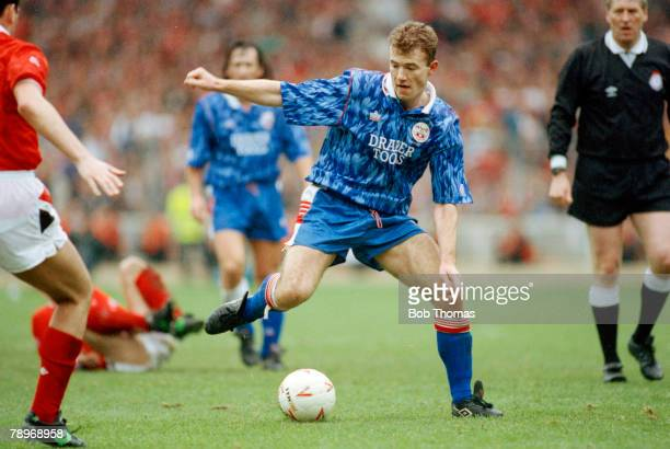 March 1992 Zenith Data Systems Cup Final at Wembley Nottingham Forest 3 v Southampton 2 aet Southampton striker Alan Shearer on the ball Alan Shearer...