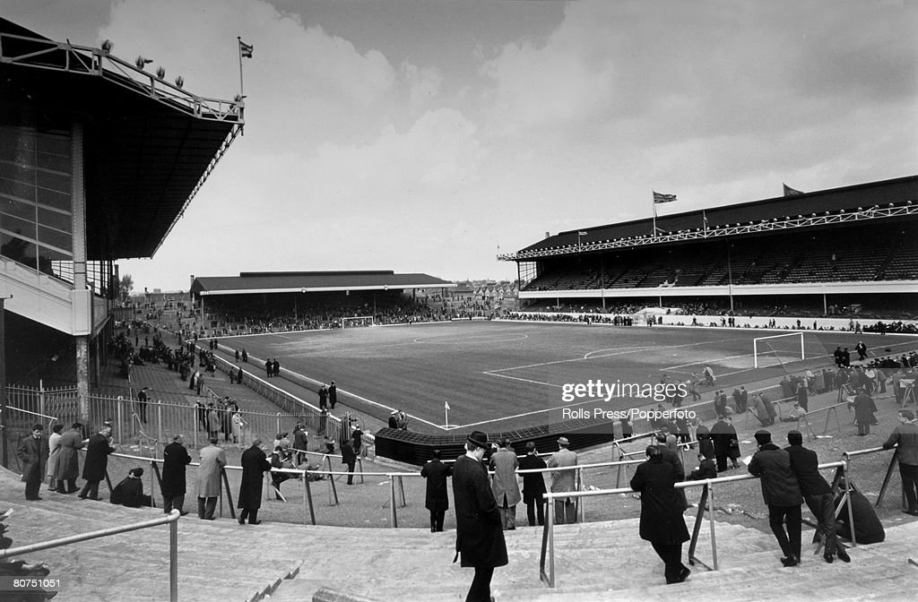 Sport Football. pic: May 1966. Arsenal F.C. A general view of Highbury Stadium home of the 'Gunners'. : News Photo