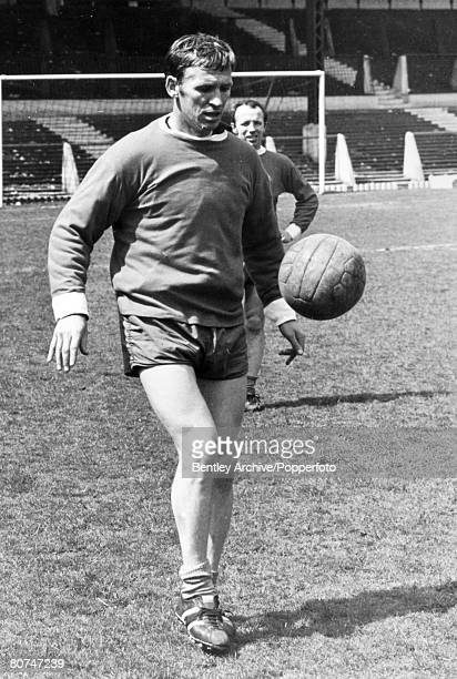 May 1968, Manchester United's Scottish international Paddy Crerand training at Old Trafford