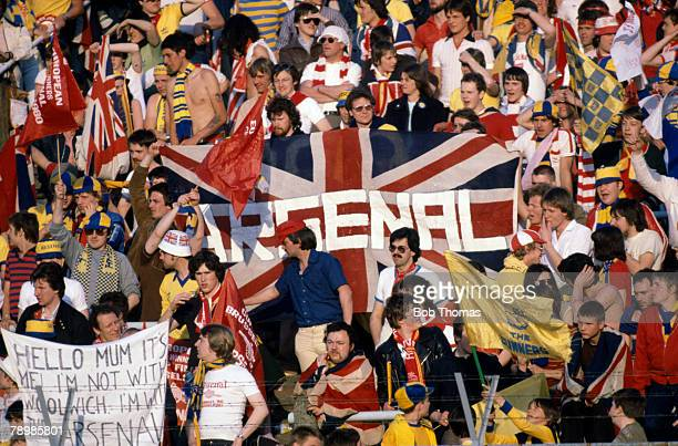 May 1980 European Cup Winners Cup Final in Brussels Valencia 0 v Arsenal 0 aet Valencia won on penalties Arsenal fans