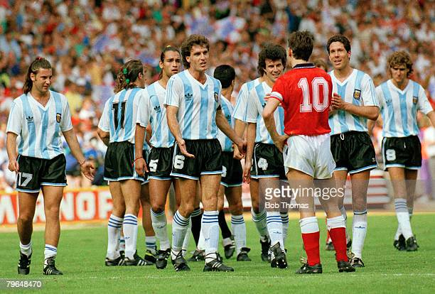 May 1991 Challenge Cup Match at Wembley England 2 v Argentina 2 England's Gary Lineker seems to be confronting the entire Argentina team Gary Lineker...