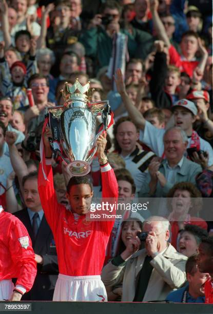 May 1994 Premiership Manchester United's Paul Ince lifts the Championship trophy Paul Ince won 53 England international caps between 19932000