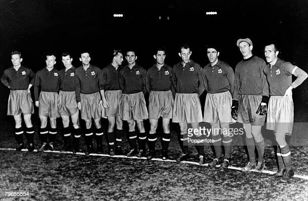 November 1954 Kiev The Dynamo Kiev team which won the Russian Cup in 1954 Leftright Popovich Bogdanovitch Koltsov Terentiev Koman Fomin Larionov Yust...