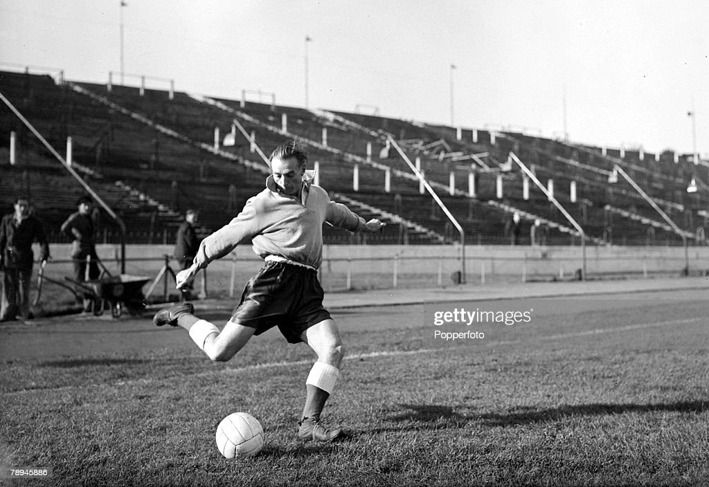 November 1954, Stanley Matthews, Blackpool and England, The 'wizard of dribble' played 54 times for England in a long career, spanning with his clubs 36 years
