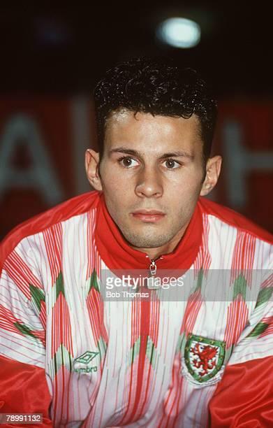 October 1991 Wales Training in Nuremburg Ryan Giggs Wales