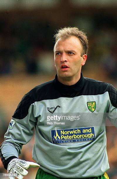 October 1992 Bryan Gunn Norwich City goalkeeper