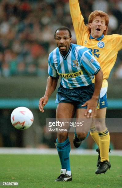 1990 Division 1 Coventry City 1 v Leeds United 1 Coventry City's Cyrille Regis moves away from Leeds United's Gordon Strachan Cyrille Regis won 5...