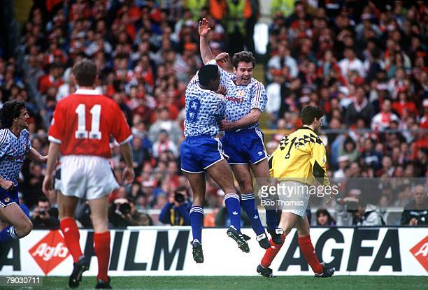 Sport Football Rumbelows League Cup Final Wembley London England 12th April 1992 Manchester United 1 v Nottingham Forest 0 Manchester United's Brian...