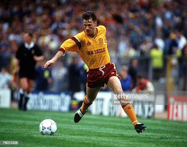 Sport Football Scottish Cup Final Hampden Park Glasgow Scotland 18th May 1991 Motherwell 4 v Dundee United 3 Motherwell's Ian Angus