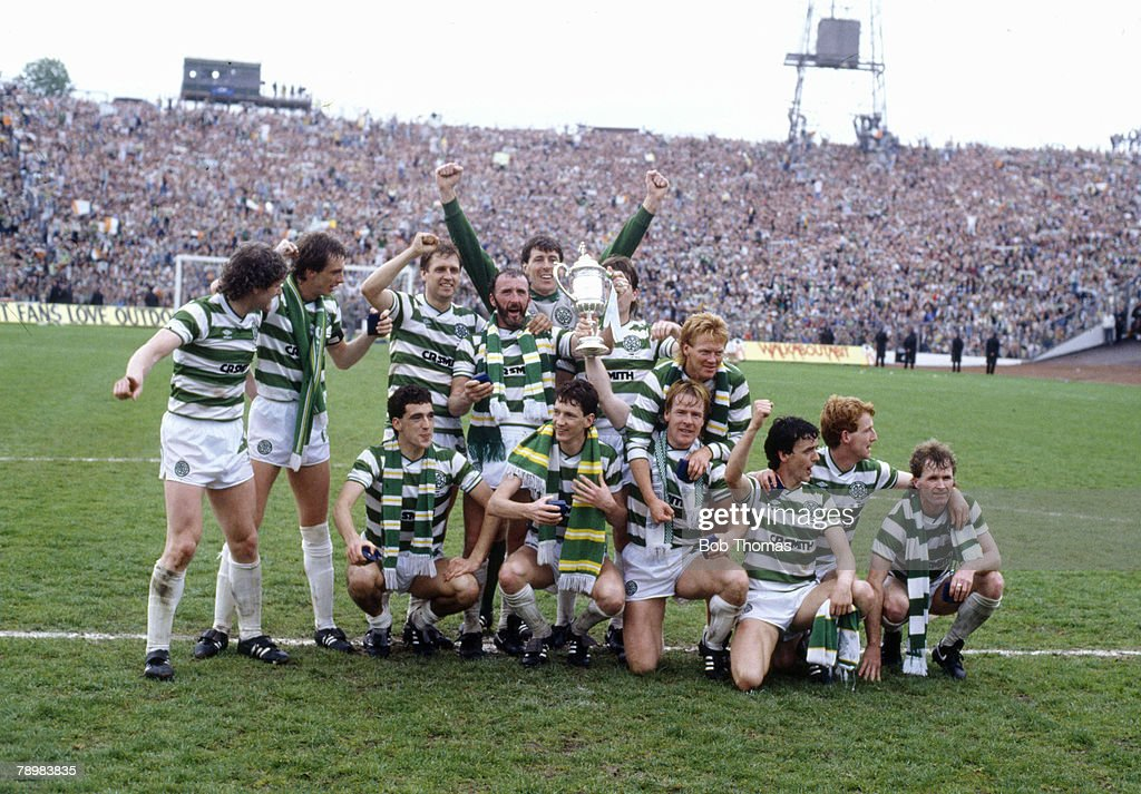 Sport. Football. Scottish FA Cup Final at Hampden Park. pic: 18th May 1985. Dundee United 1 v Celtic 2 : News Photo