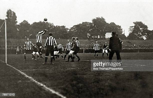 Sport Football September 4th 1907 Southern League Crystal Palace 0 v Northampton Town 2 The Cobblers in striped shirts won the match with goals from...