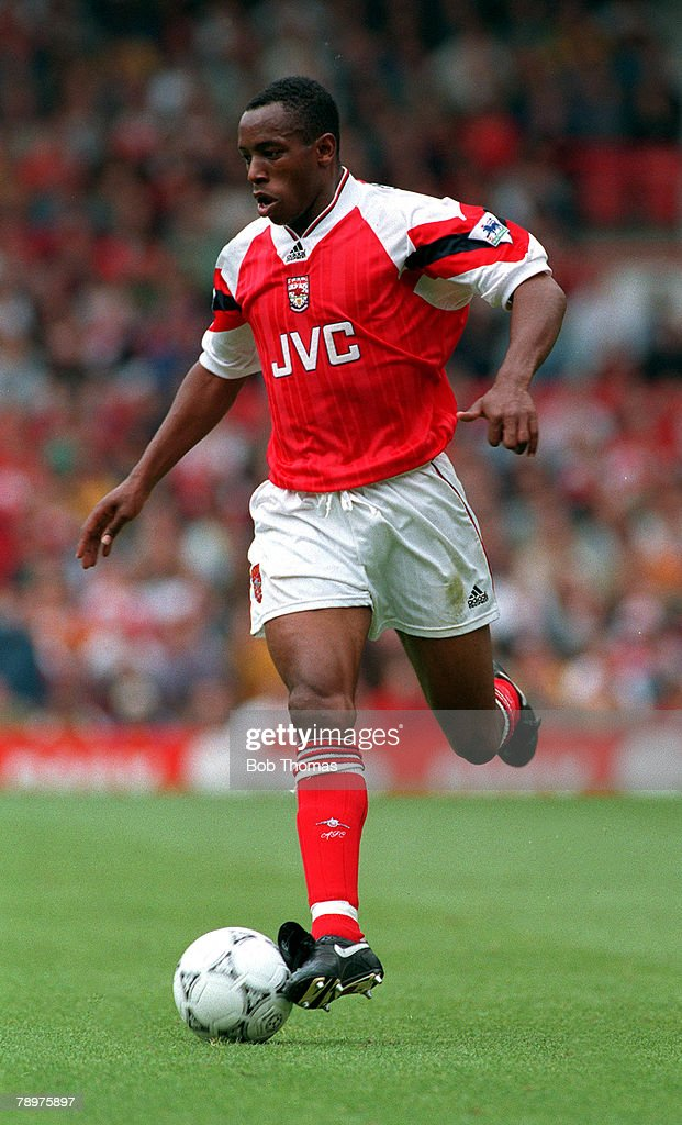 Sport, Football. September,1993. Ian Wright of Arsenal. : ニュース写真