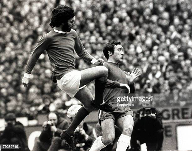 Sport Football Stamford Bridge London England League Division One 21st March 1970 Chelsea v Manchester United Manchester United's George Best leaps...