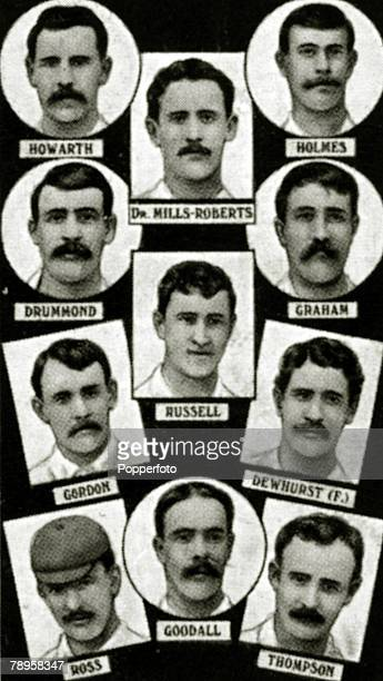 Sport Football The 1889 English FA Cup winners Preston North End from top to bottom leftright Howarth MillsRoberts Holmes Drummond Russell Graham...