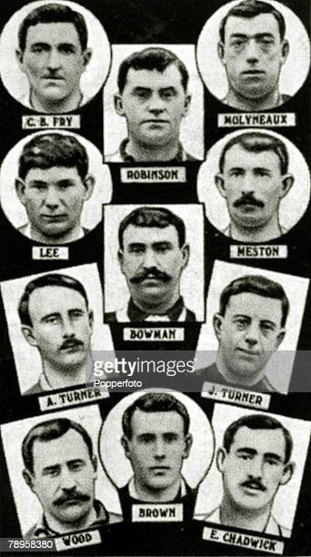 Sport Football The 1902 English FA Cup winners Sheffield United from top to bottom leftright Thickett Foulke Boyle Needham Johnson Barnes Wilkinson...