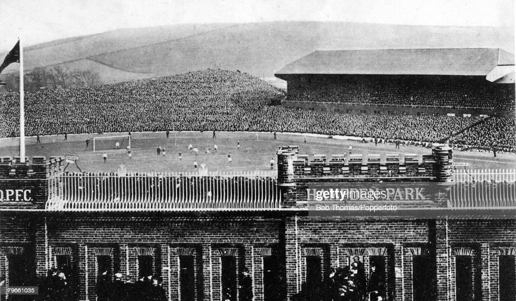 Sport, Football, The scene at Hampden Park, Glasgow, Scotland, 1910, International match, Scotland 2 v England 0