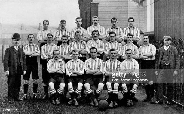Sport Football The Sheffield Wednesday F C team pose together for a group photograph Back Row LR Morrison Reynolds A Stewart Jarvis Brittleton and...