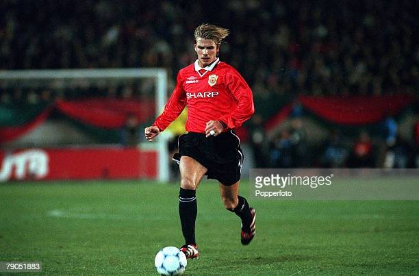 Sport Football Tokyo Japan 30th November 1999 Toyota Intercontinental Cup Manchester United 1 v Palmeiras 0 David Beckham/Manchester United