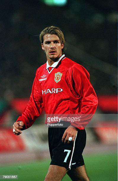 Sport Football Tokyo Japan 30th November 1999 Toyota Intercontinental Cup Manchester United 1 v Palmeiras 0 David Beckham/Manchester United