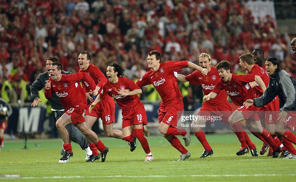 Sport, Football, UEFA Champions League Final, 25th May 2005, Ataturk Stadium, Istanbul, AC Milan 3 v Liverpool 3 : News Photo