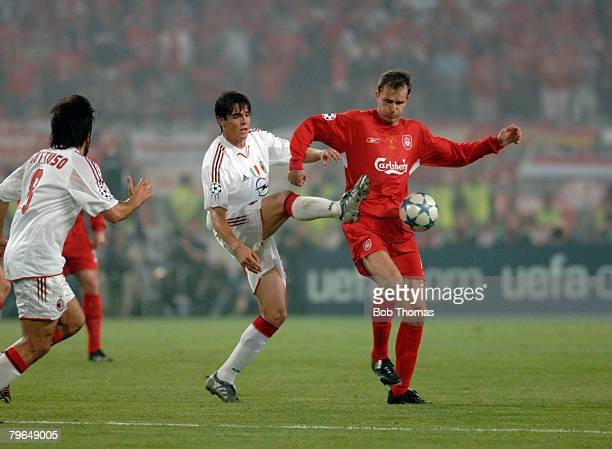Sport Football UEFA Champions League Final 25th May 2005 Ataturk Stadium Istanbul AC Milan 3 v Liverpool 3 Liverpool's Dietmar Hamann with Milan's...