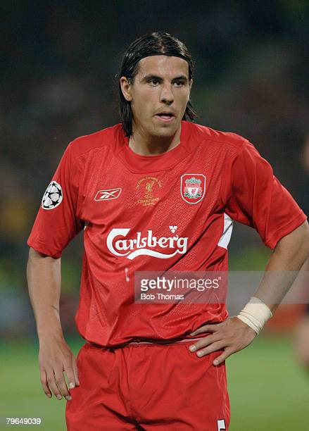 Sport Football UEFA Champions League Final 25th May 2005 Ataturk Stadium Istanbul AC Milan 3 v Liverpool 3 Milan Baros of Liverpool