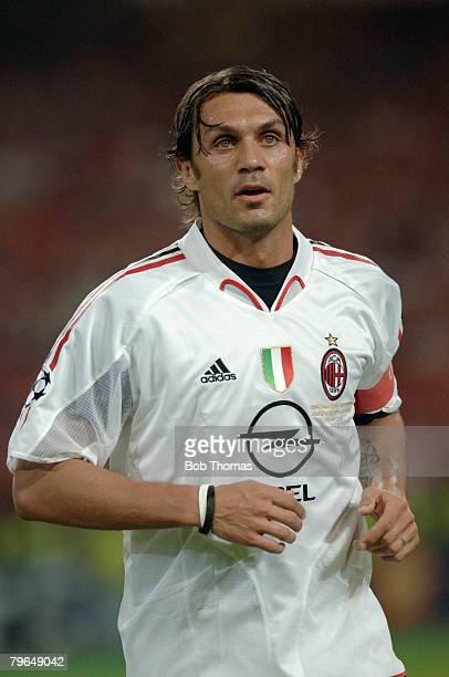 Sport Football UEFA Champions League Final 25th May 2005 Ataturk Stadium Istanbul AC Milan 3 v Liverpool 3 Paolo Maldini of Milan