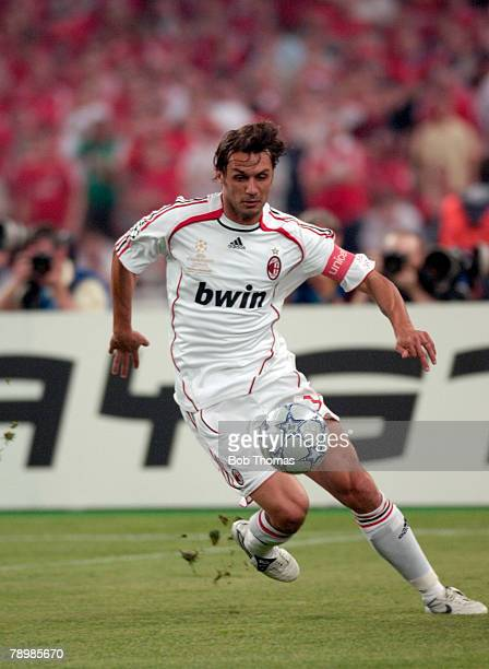 Sport Football UEFA Champions League Final Athens 23rd May 2007 AC Milan 2 v Liverpool 1 AC Milan's Paolo Maldini