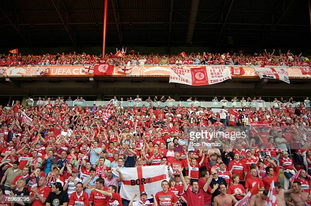 Sport Football UEFA Cup Final Eindhoven 10th May 2006 Middlesbrough 0 v Sevilla 4 Middlesbrough fans pack the stadium