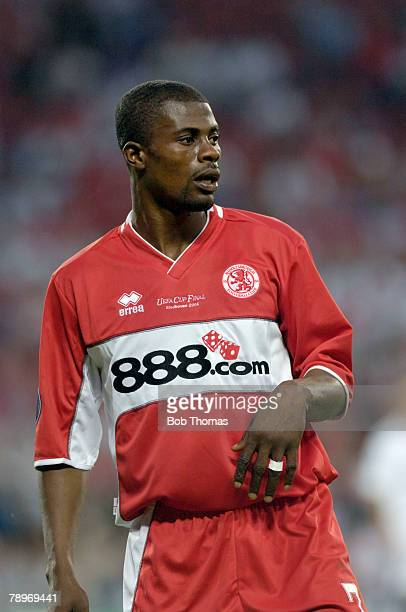 Sport Football UEFA Cup Final Eindhoven 10th May 2006 Middlesbrough 0 v Sevilla 4 George Boateng of Middlesbrough