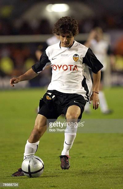 Sport Football UEFA Cup Final Gothenburg 19th May 2004 Valencia CF 2 v Olympic Marseille 0 Valencia's Pablo Aimar