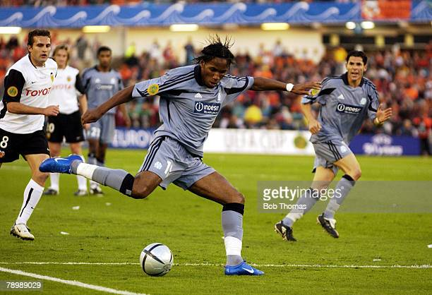 Sport Football UEFA Cup Final Gothenburg 19th May 2004 Valencia CF 2 v Olympic Marseille 0 Didier Drogba of Marseille