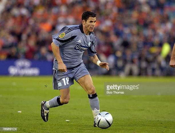 Sport Football UEFA Cup Final Gothenburg 19th May 2004 Valencia CF 2 v Olympic Marseille 0 Marseille's Camel Meriem