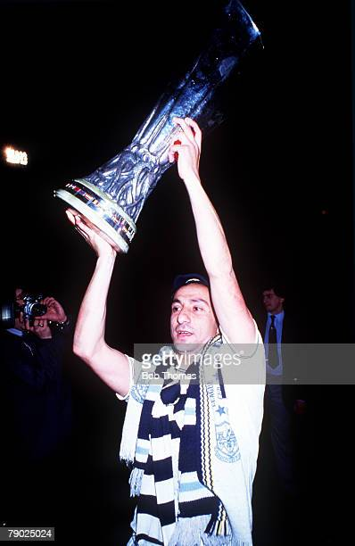 Sport Football UEFA Cup Final Second Leg White Hart Lane London England 23rd May 1984 Tottenham Hotspur 1 v Anderlecht 1 Tottenham Hotspur's Osvaldo...